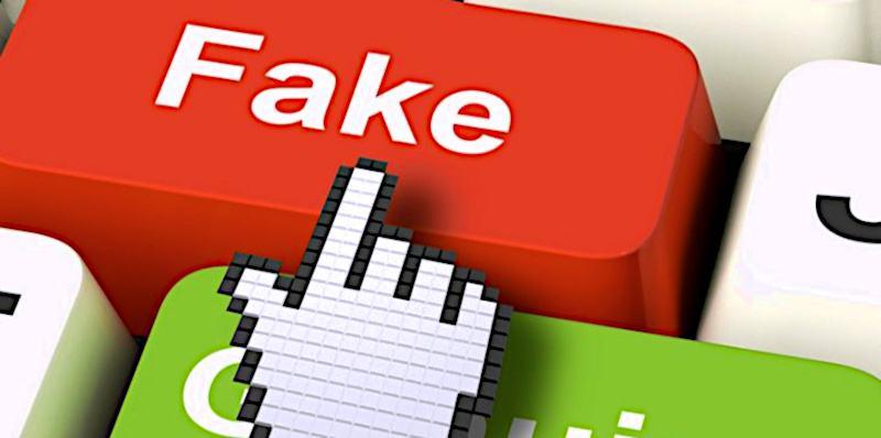 Fake symbol na klawiaturze